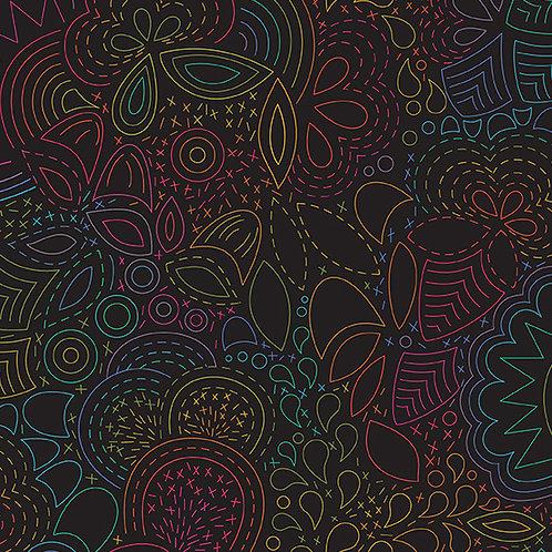 Rainbow Stitched - Night