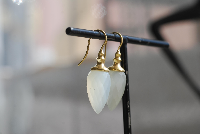 Ohrhänger mit Mondsteinpendel