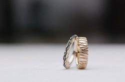Eheringe Weißgold (ohne Pd) Damenring mit Rohdiamanten