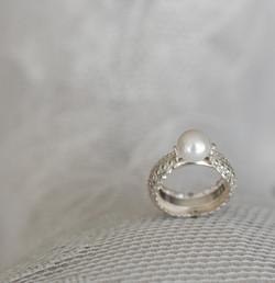 Silberring mit Zuchtperle