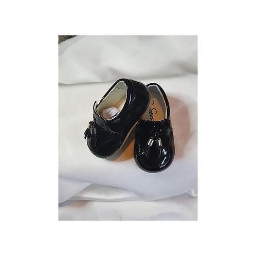 Boys Black Loafers
