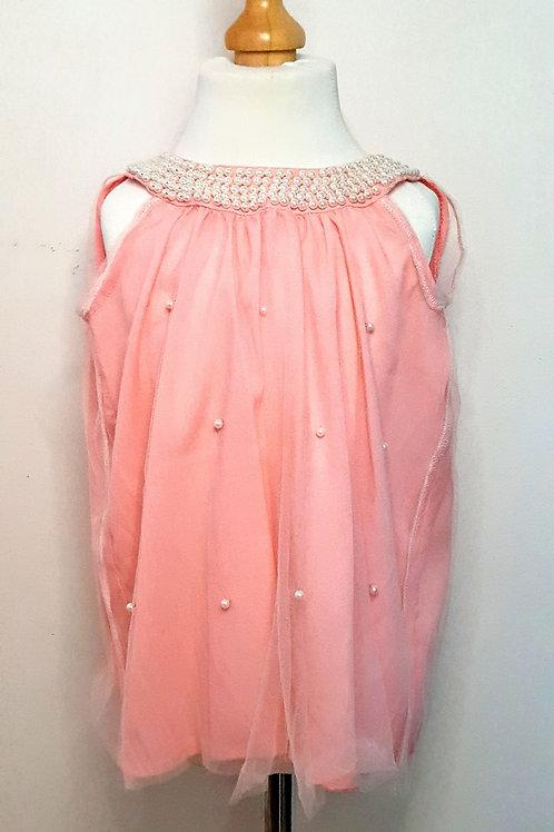 Salmon Pink Pearl Dress
