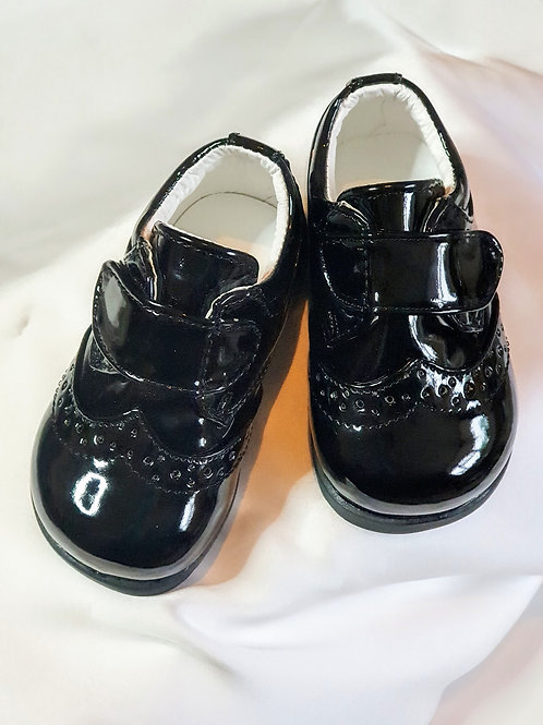 Baby Boys Patent Black Shoes