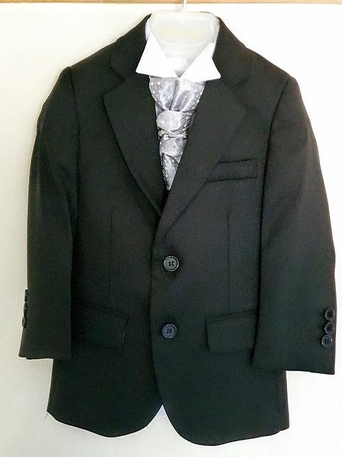 Boys Black Slim Fit Suit