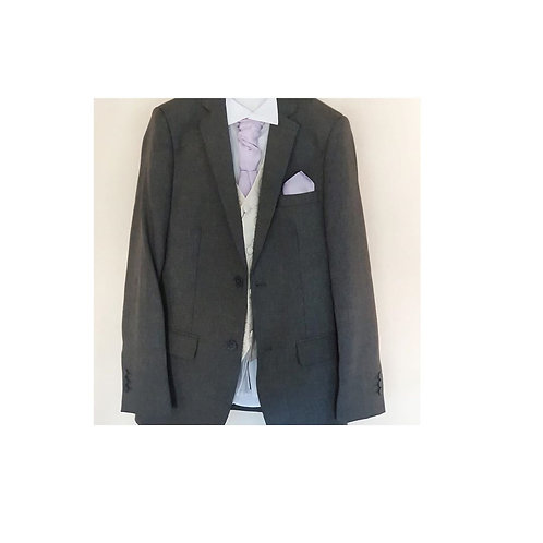 Grey & Ivory Pageboy Suit