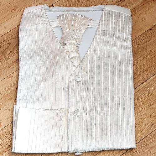 Boys Striped Pattern Waistcoat Set