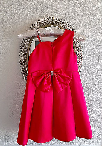 childs pink dress