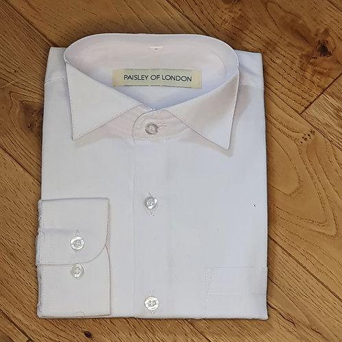 Boys Plain Wing Collar Shirt