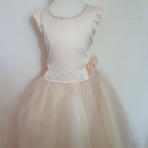 Girls Champagne Party Dress Charlotte