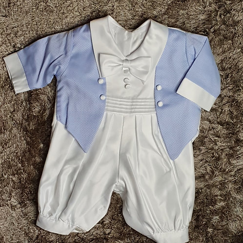 Baby Boys Blue Jacket Christening Outfit