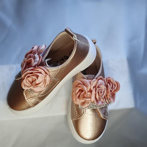 Girls Rhinestone Slip-On Sneakers
