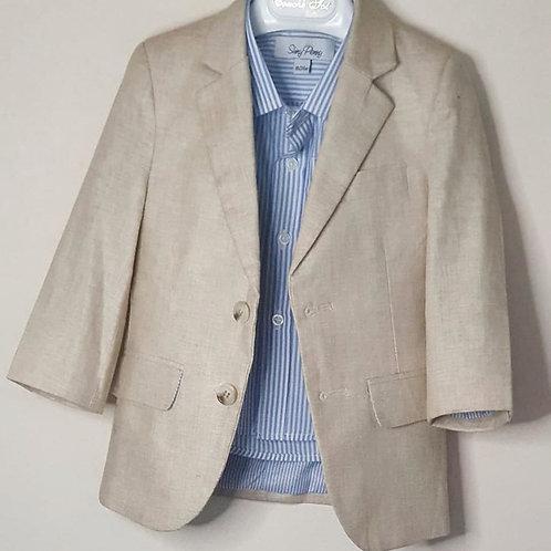 Linen Jacket & Stripe Shirt Mix