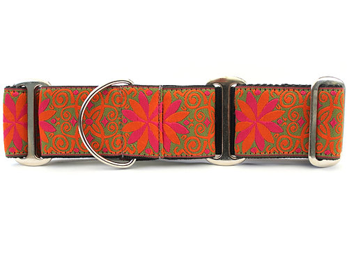 Pinwheel Mexicali Sunset Extra Wide Martingale Dog Collar