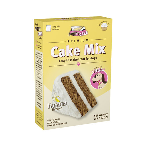 Puppy Cake Mix and Frosting - Banana Flavored for Birthday + More