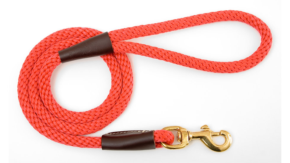 "Regular Snap Leash- 1/2"" x 4ft."