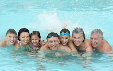 家族で楽しめるプール