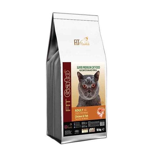 Fit Gato Yetişkin Kedi Maması Tavuklu & Balıklı