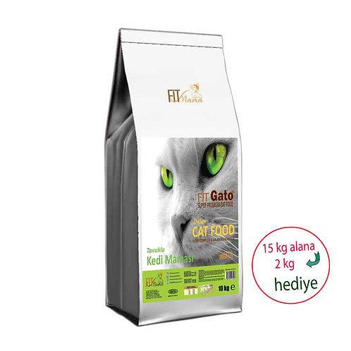 Fit Gato Premium Yetişkin Kedi Maması Taze Tavuk Etli
