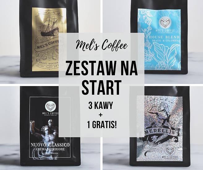 Zestaw na start kawa 4 x 250g Mel's Coffee ziarno