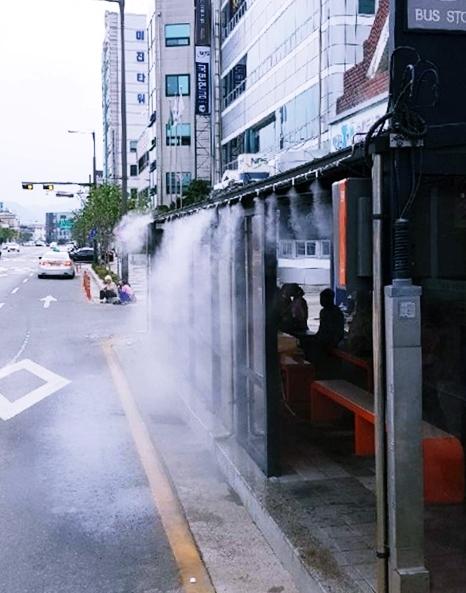 홍천 버스정류장