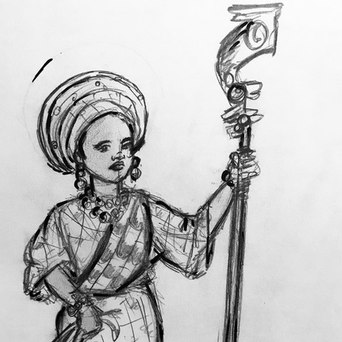 Vision Quick Sketch of Ms. Magical Mbeku