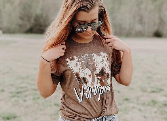 Virginia Cowhide T-Shirt