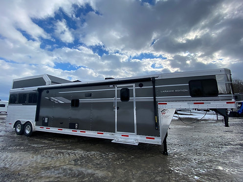 NEW 2021 SMC 3 Horse 16' Living Quarters with 9' Slide out & Hay Pod STOCK# 1000