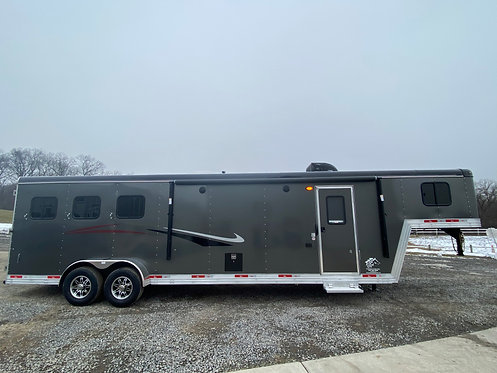 NEW 2021 Bison Desperado 3 Horse 11' Living Quarters with slide out STOCK # 0152