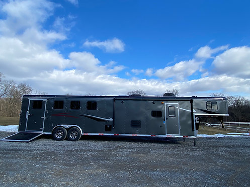 NEW 2021 Bison Ricochet 4 Horse with 13' Living Quarters STOCK #0217