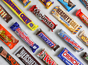 The most popular chocolate bars
