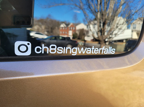 Ch8sing Waterfalls Car Decal