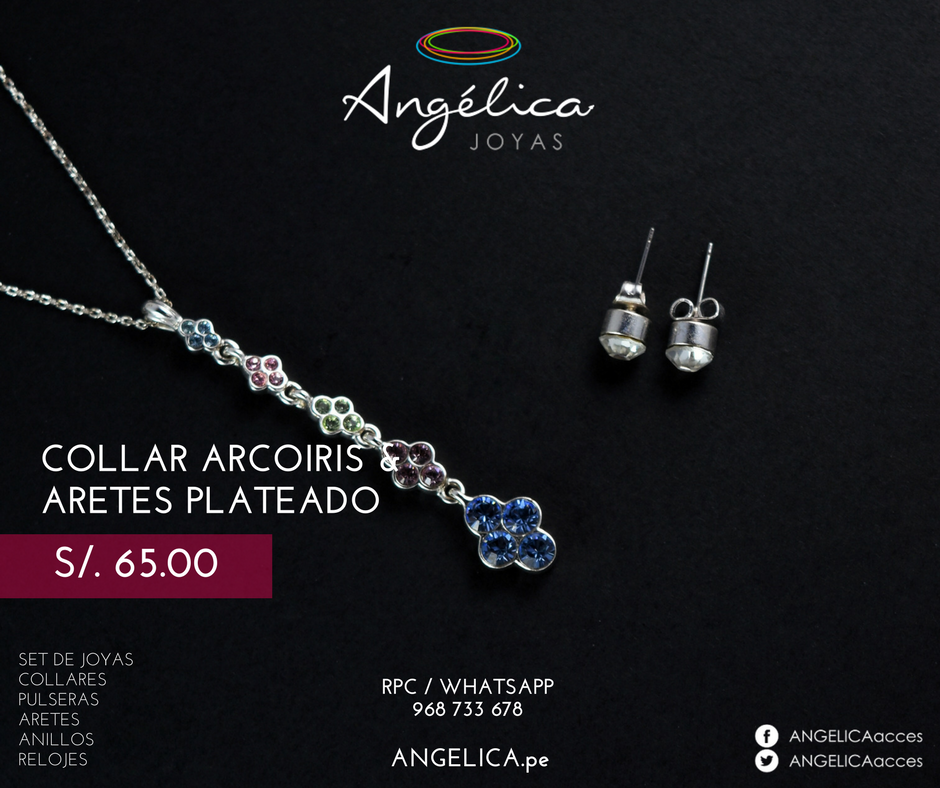 Collar Arcoiris& Aretes