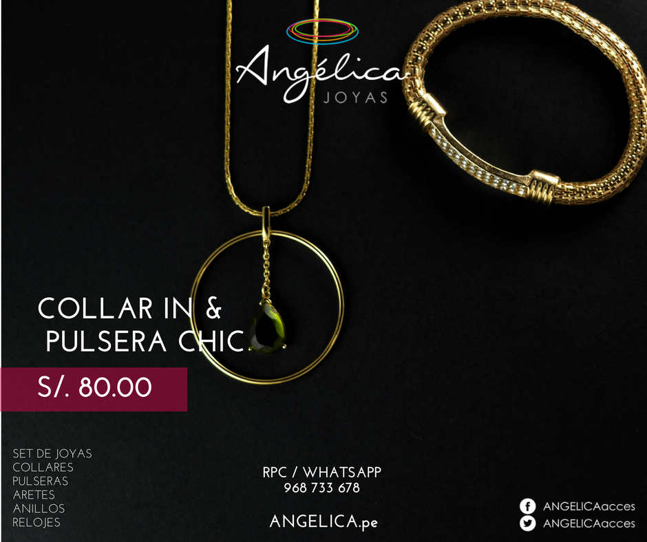 Collar In &Pulsera Chic