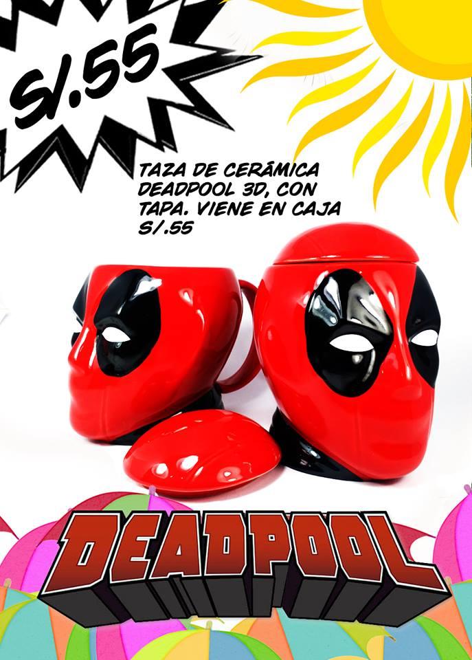 Taza Deadpool con tapa