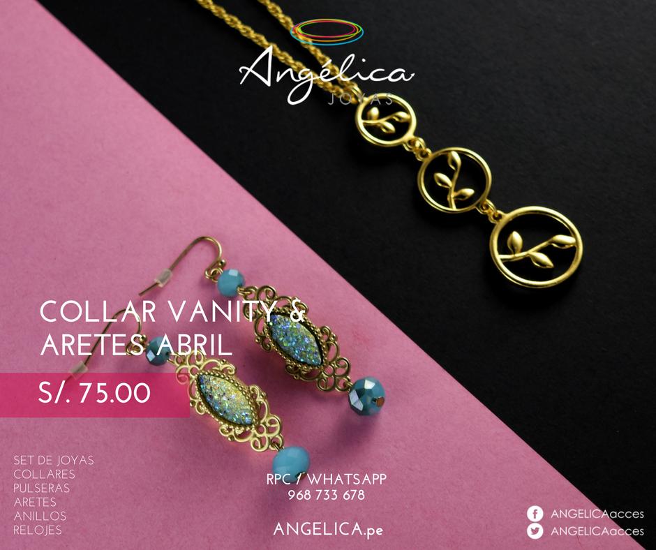 Collar Vanity& Aretes Abril
