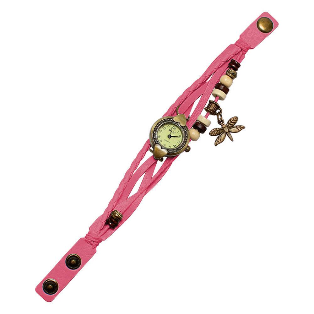 Reloj Pulsera Rosado Oscuro