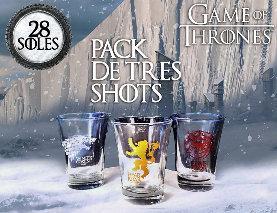 Set de tres shots GOT