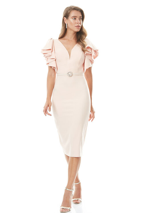 Zynab Smith Collection  Open Back Midi Dress