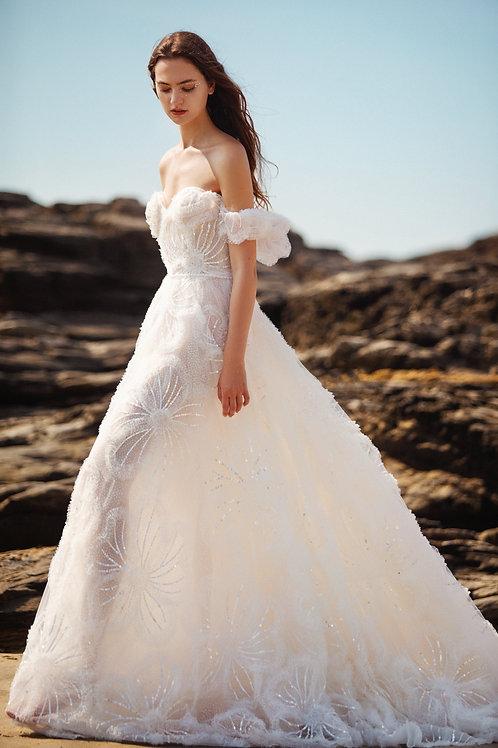 La Premier Couture Ruffle Ballgown