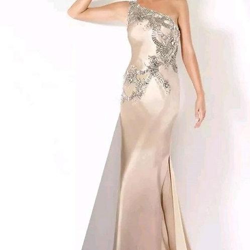 Jovani Champane Gown Size 14
