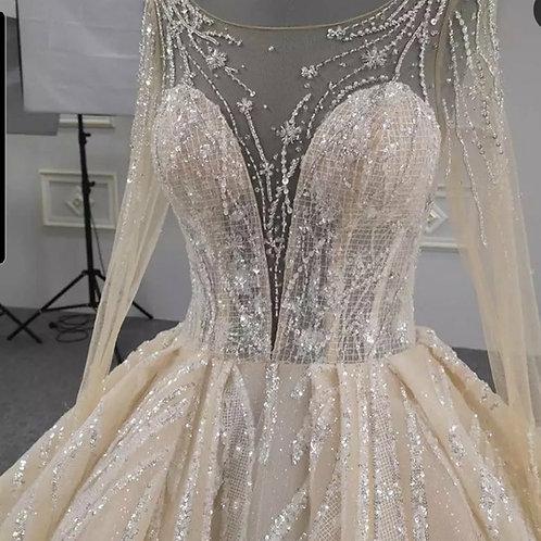 Zynab Smith Wedding Dress Custom Ball Gown