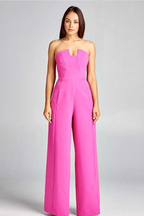 Sparkle & Sass Collection Hot Pink Jumpsuit