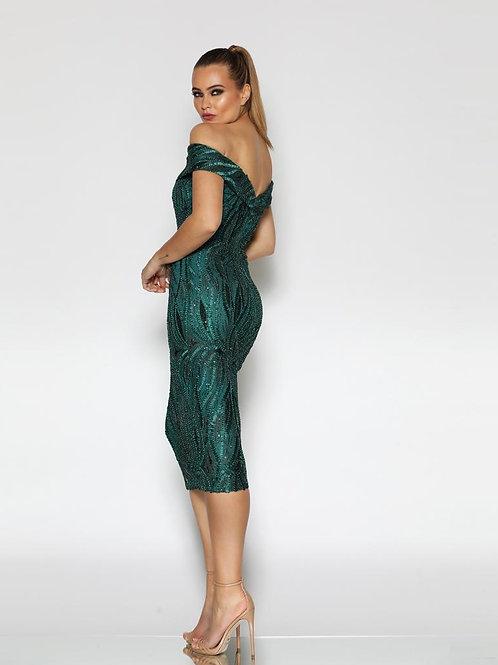 Jadore Off the Shoulder Cocktail Dress