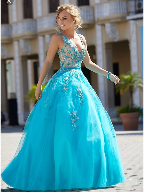 Mori Lee Ball Gown 42042 Size 10