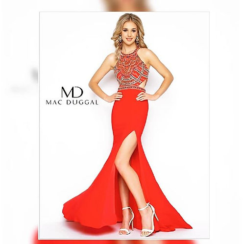 MacDuggal Red Cut-Outs Size 4