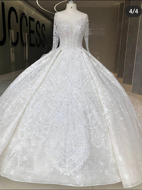 Zynab Smith Custom  Long Sleeve Wedding Dress