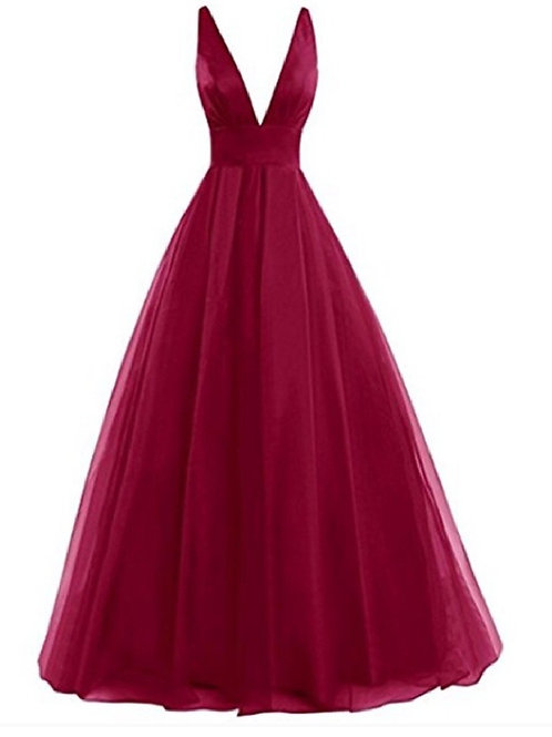 Red Tulle Ballgown