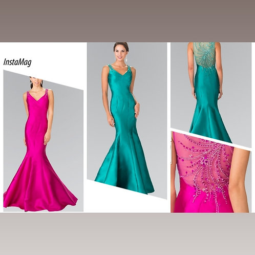 GLS Collection Fuchsia and Emerald Dress
