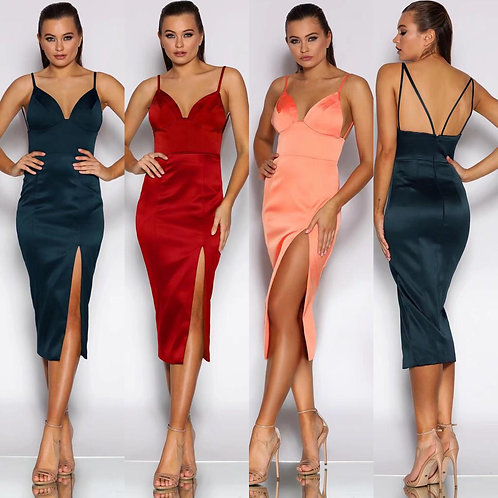 High Split Jadore Cocktail Dress