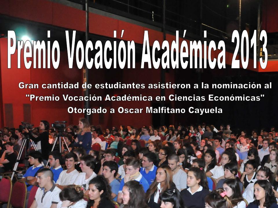 Premio vocación académica 2013